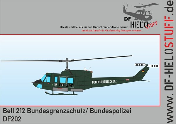 Decals Bell 212 Bundesgrenzschutz / Bundespolizei