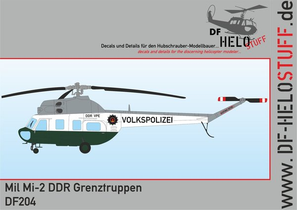 Decals Mil Mi-2 Volkspolizei