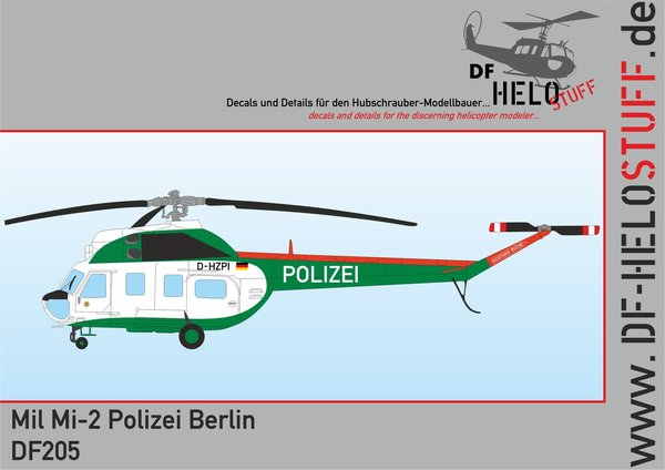 Decals Mil Mi-2 Polizei Berlin