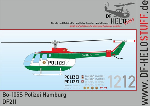 Decals Bo-105CBS Polizei Hamburg