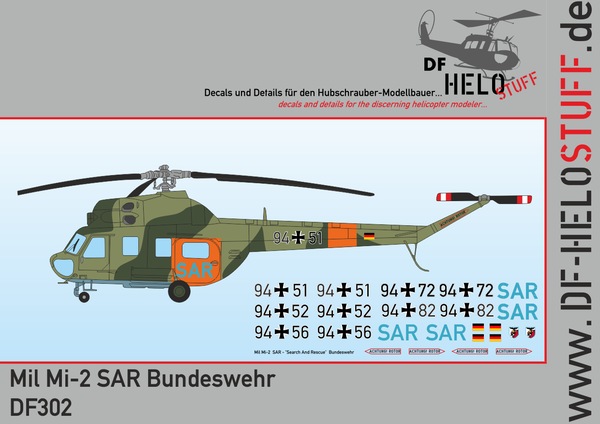 Decals Mil Mi-2 Search and Rescue Bundeswehr