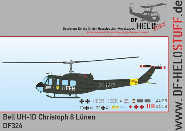 Decals UH-1D Christoph 8 Lünen
