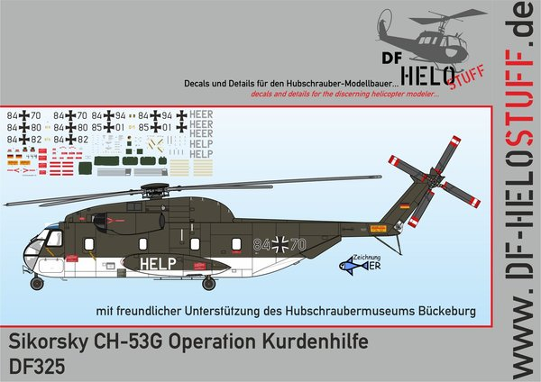 Decals CH-53G Operation Kurdenhilfe