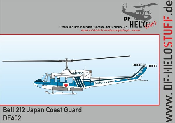 Decals Bell 212/ UH-1N Japan Coast Guard