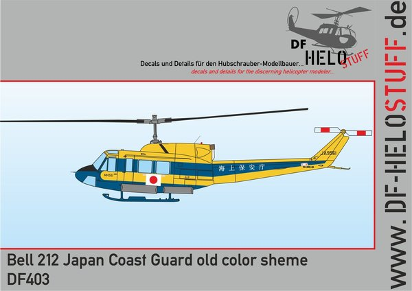 Decals Bell 212/ UH-1N Japan Coast Guard, old color sheme