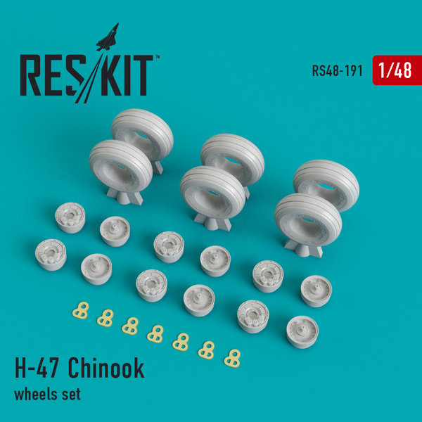 CH-47 Chinook, wheels set 1:48