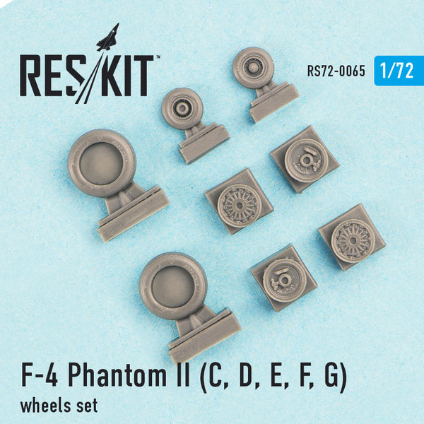 F-4 Phantom (C, D, E, F, G) wheels set 1:72