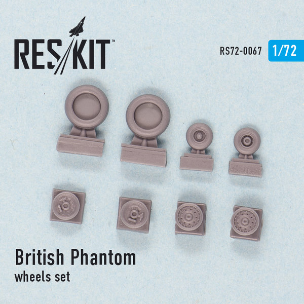 British Phantom wheels set 1:72