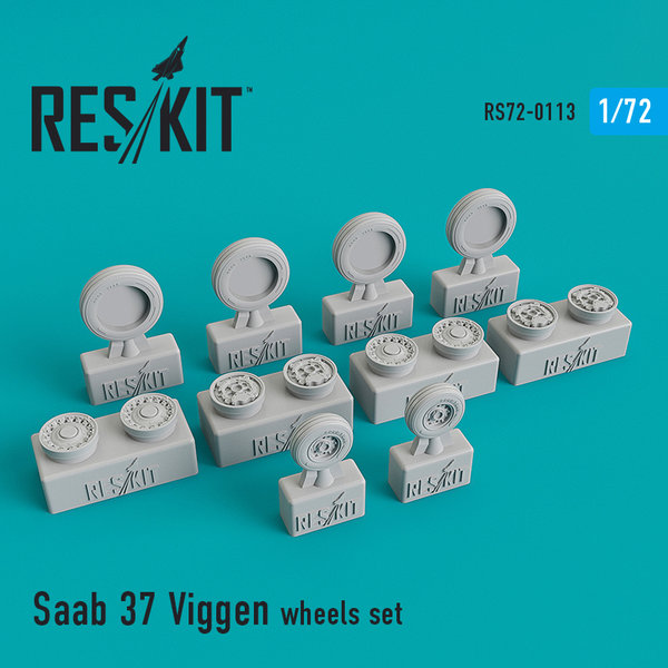 Saab 37 Viggen wheels set 1:72