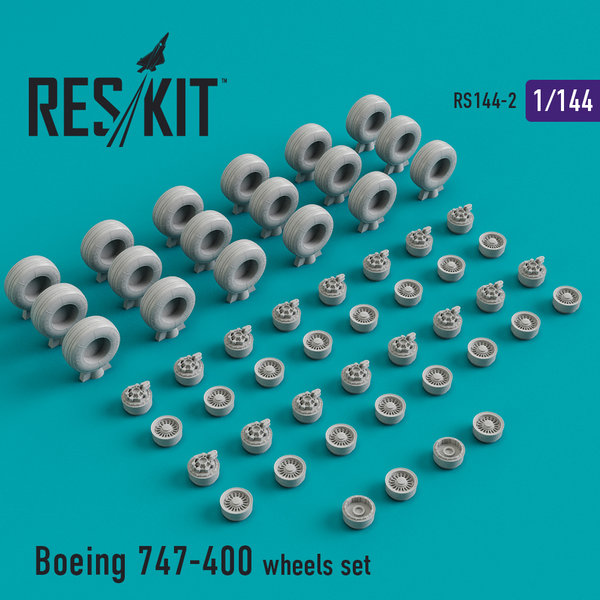 Boeing 747-400 wheels set 1:144