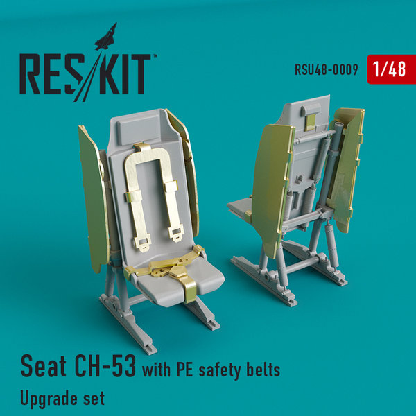 ResKit Seat CH-53, MH-53 with PE safety belts RSU48-0009  1:48