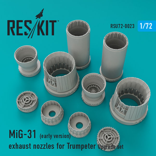 MiG-31 (early version) exhaust nozzles for Trumpeter 1:72