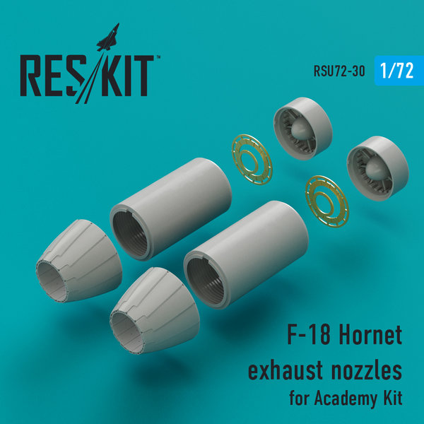 F-18 Hornet exhaust nozzles for Academy Kit 1:72