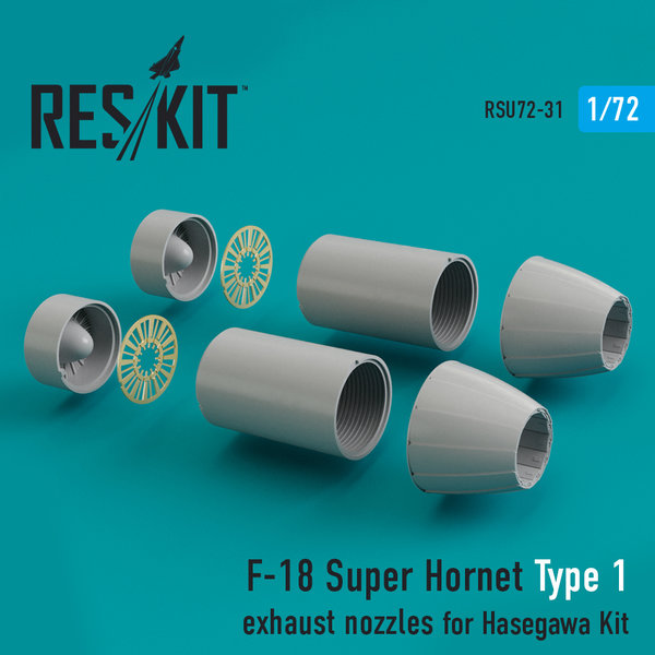 F-18 Super Hornet Type 1 exhaust nozzles for Hasegawa Kit 1:72