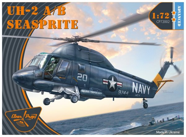 Clear Prop 72002 UH-2 A/B Seasprite 1:72 + Painting Mask CPA72015