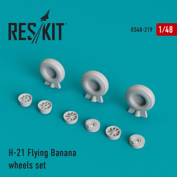 ResKit H-21 Flying Banana wheels set 1:48 RS48-0219