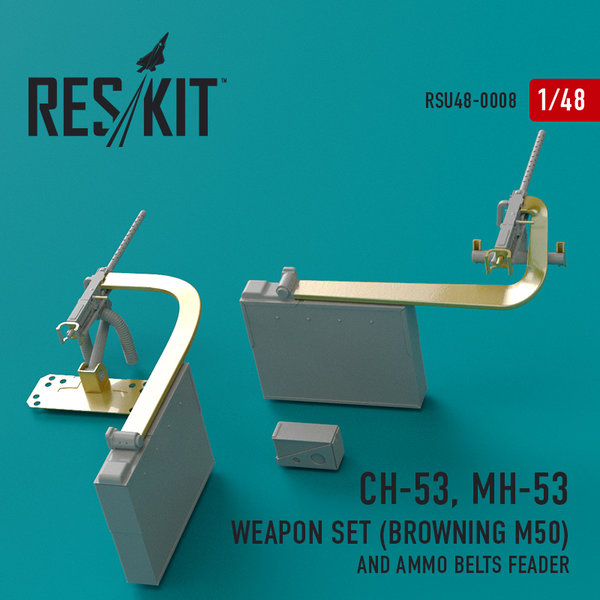 ResKit CH-53 MH-53 Weapon Set Browning M50 1:48 RSU48-0008