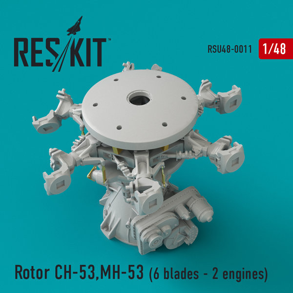 ResKit Rotor CH-53, MH-53, HH-53 (6 blades - 2 engines) 1:48 RSU48-0011
