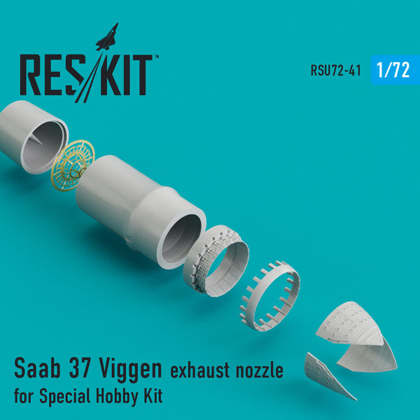 ResKit Saab 37 Viggen exhaust Nozzle for Special Hobby 1:72 RSU72-0041