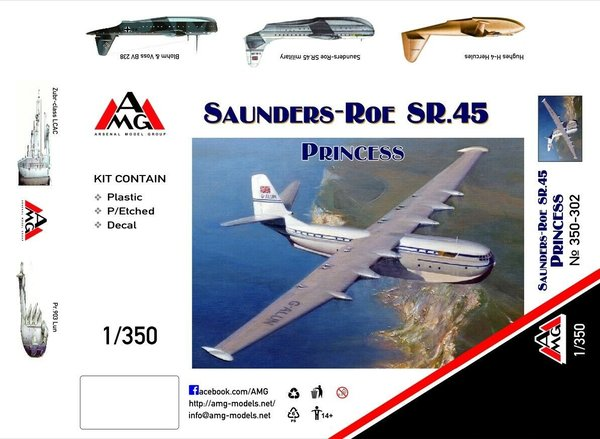 AMG Model 350-302 Saunders-Roe Princess SR.45 1:350