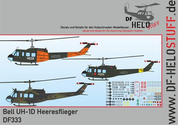 Decals Bell UH-1D Heeresflieger DF333